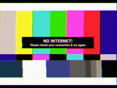 No Internet product design animation no internet error