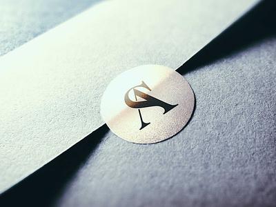 SA - Monogram wedding invite typography branding sa logo monogram