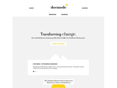 Wireframe's For Docmode page landing website docmode wireframes