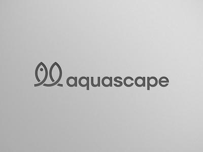 Aquascape - Fish + Plant plant fish aquascape logomark community brand scaping aqua logo