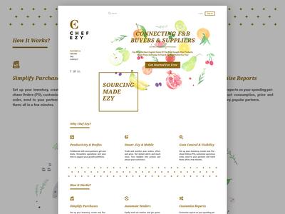 Chef Ezy Website Mockup website webdesign ui navigation menu layout icons gallery flat clean