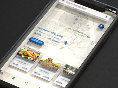 ToGu interface app iphonex raw render 3d