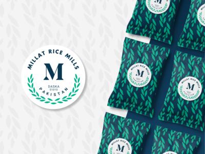 Millat Rice Mill | Rebranding & Packaging vector illustration harvest package design pattern factory mill daska pakistan lahore millat minimal brand packing packaging rice brand identity rebranding branding