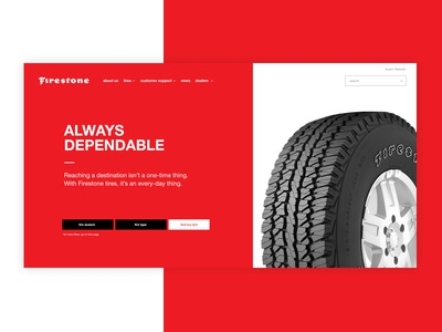 Slider Design automobil tyre cars layout webdesign innerpages homepage pepperweb website firestone