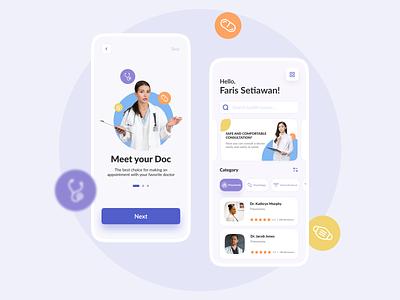 Medical App💊 - UI Mobile Design uxdesign ui mockup ui mobile uimobile mobile app design mobile app mobile ui medical care medic medical app appdesign design uiux ui uidesign