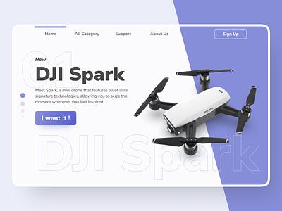 UI Landing Page - Drone Store shop ecommerce store uiux webdesign ui  ux design uidesign ui landing page landing page design uiweb uiwebdesign website hero drone landingpage