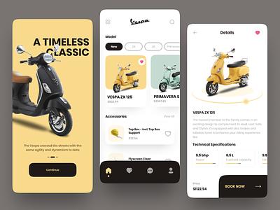 Vespa Store 🛵 - UI Mobile App uimobile mobileapp mobile design ui design motorbike motorcycle store ios android vespastore vespa mobile app app ui  ux uiux design ui uidesign