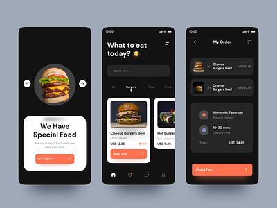 Fast Food - Order Food App uimobile mobile ios mobile app app ui  ux uiux design ui uidesign foodie food fastfood