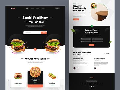 Fast Food eluwe - Landing Page ui landing page food delivery ui web uiweb web webdesign ui  ux uiux ui uidesign design fastfood food landingpage