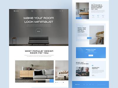 Maroom Landing Page - Interior Design Room Service services webconcept ui design uix furniture room interior uiweb webdesign landingpage ui  ux uiux ui design uidesign