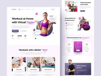 RogoF!t - Landing Page sport uiweb web landingpage webdesign ui  ux uiux uidesign design ui fitness workout