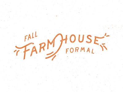 Farmhouse Formal