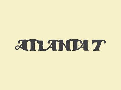 the Atlanta 7 lettering atlanta logo