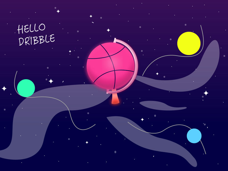 Hello Dribble illustration