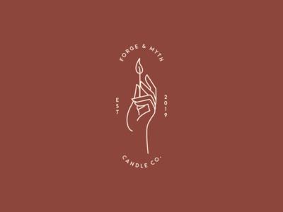 Forge & Myth Candle Co. Logo