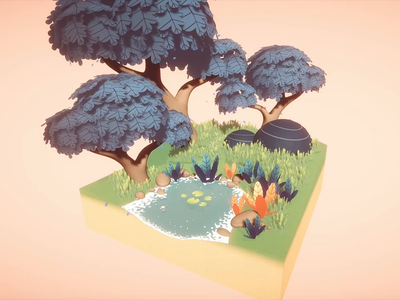 Unity 3d Diorama 01 game shadergraph modeling unity 3d