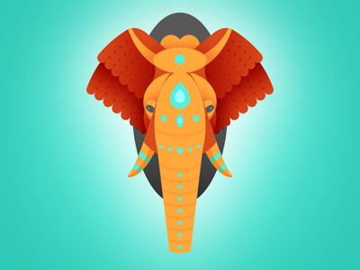 Geometric Elephant elephant animal geometric illustration
