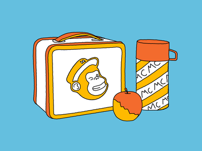 Lunchbox illustration mailchimp thermos lunchbox
