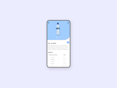 Aqua App - Mineral Water flat app ux illustration website web ui minimal design branding