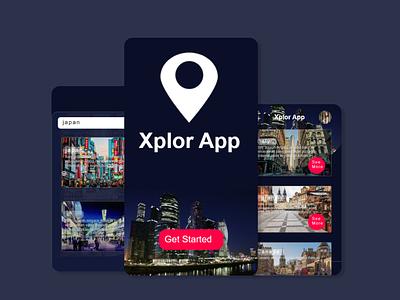 Xplor App for Traveler art illustrator website ux ui web illustration design flat branding