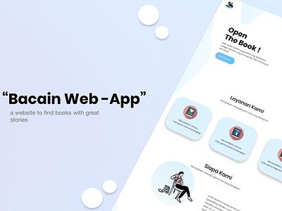 BACAIN WEB - APP graphic design app typography website web ux ui illustration flat design