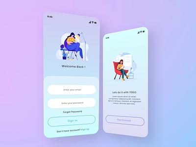 INGE - TIN TODO APP minimal typography app website web ux ui flat design