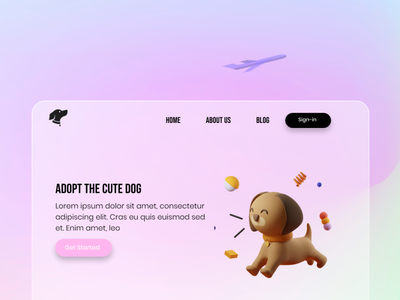 Adopin App - Love pets graphic design branding app website web illustration ux ui flat design