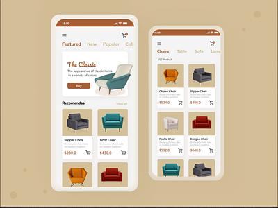 Furniture App Design design app mobile designer design app uiux uiuxdesigner webdesign appdesign ui design ilustrasidesign ux design uiuxkeren dribble invite dribble shot dribble figma uidesign uiuxkreatif uiuxdesign ux ui