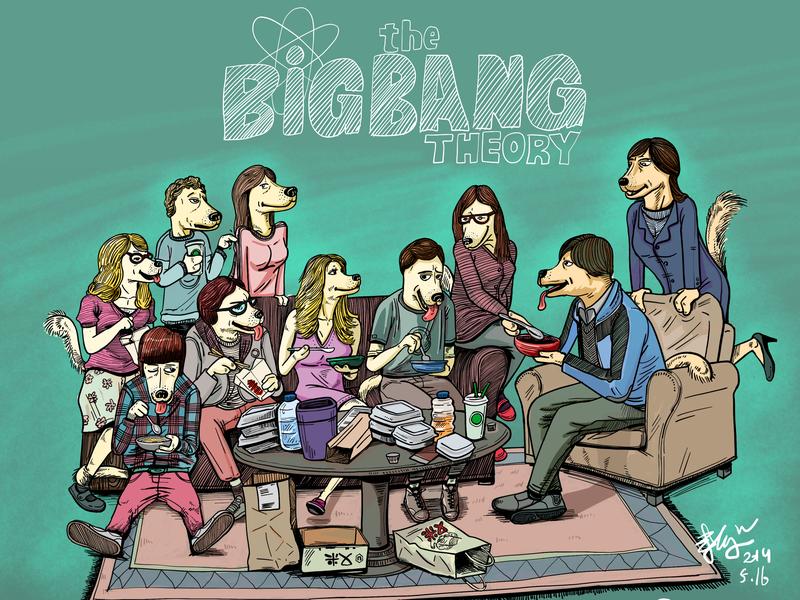 the big bang theory art illustrator bigbanghteory bigbang