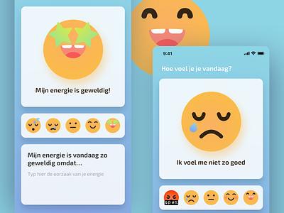 Depression, pain and energy monitor application web app branding design illustration ui  ux development agency