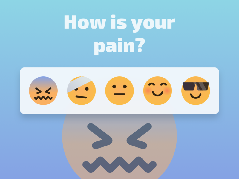 Measuring Pain design app ui  ux agency