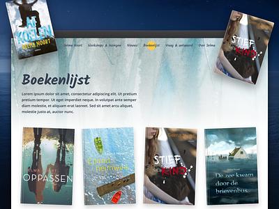 Website for children book author Selma Noort digital web design ui  ux website children book