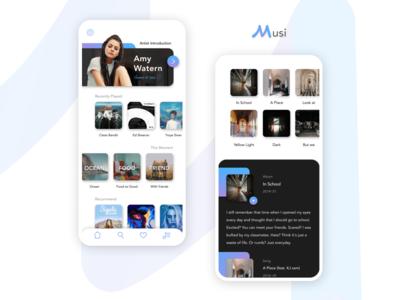 Musi : Music APP UI Design