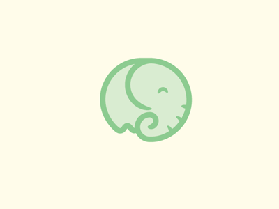 Elephant Concept logo elephant cute playful smiling brand vector illustration