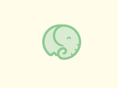 Elephant Concept logo elephant cute playful smiling brand vector illustration