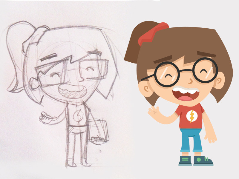 Me Sketch To Vector vector character caricature me illustration