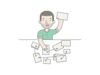 Tediously Create Sitemap sitemap evernote messy character illustration