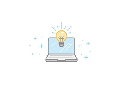 Ideas illustration line idea bulb tools build sparkle