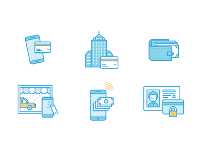 Hailo Icons print editorial hailo icon taxi illustration credit card money phone app driver