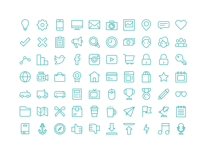 line template icons by vic dribbble dribbble