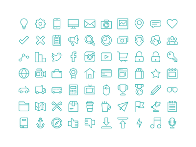 Line Template Icons by Vic 🍕 - Dribbble