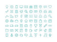 Line Template Icons