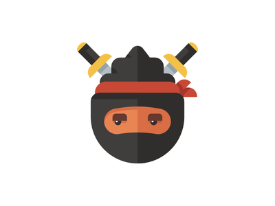 Ninja Pinecone sword ninja illustration pinecone
