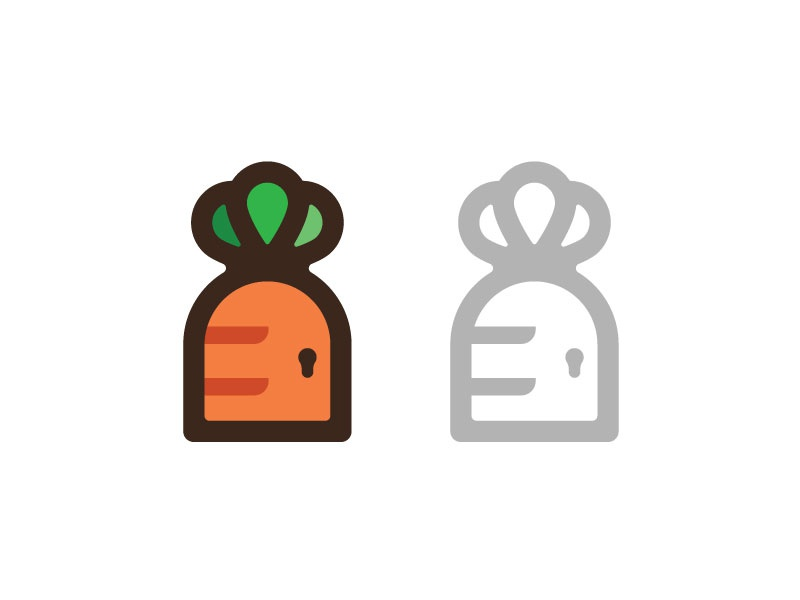 Farmdoor Concept #1 logo farmdoor carrot door idea concept vector illustration icon