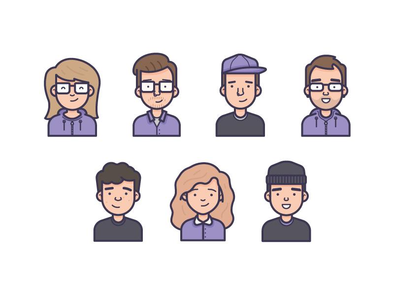 Team Avatars team brotherhood avatar icon illustration
