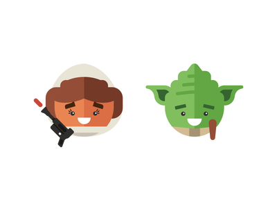 Star Wars Cones icon illustration yoda gun leia pinecone wars star