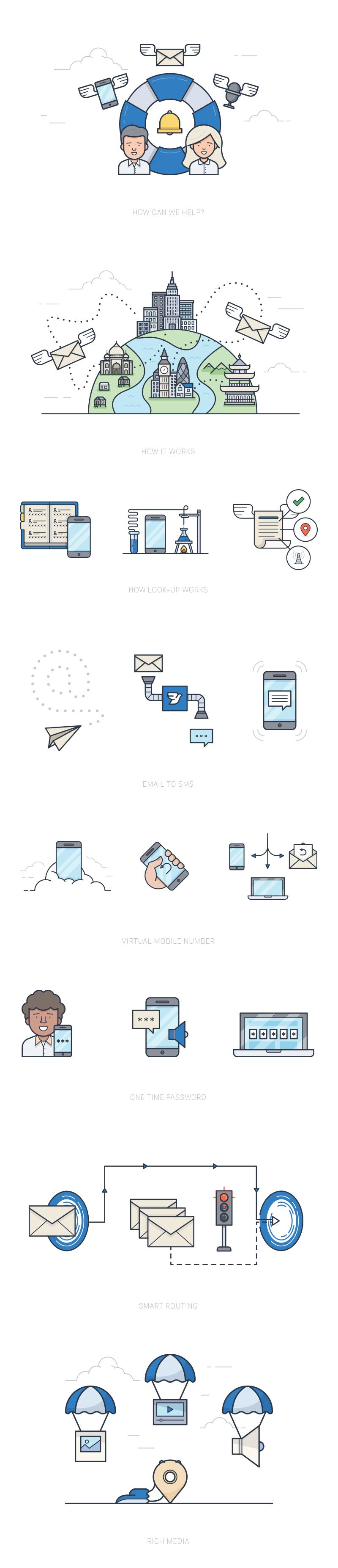 Message bird illustrations  1 att