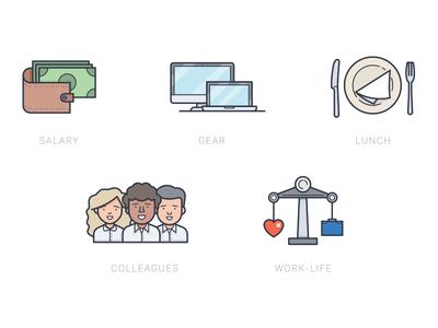 Career Perk Icons