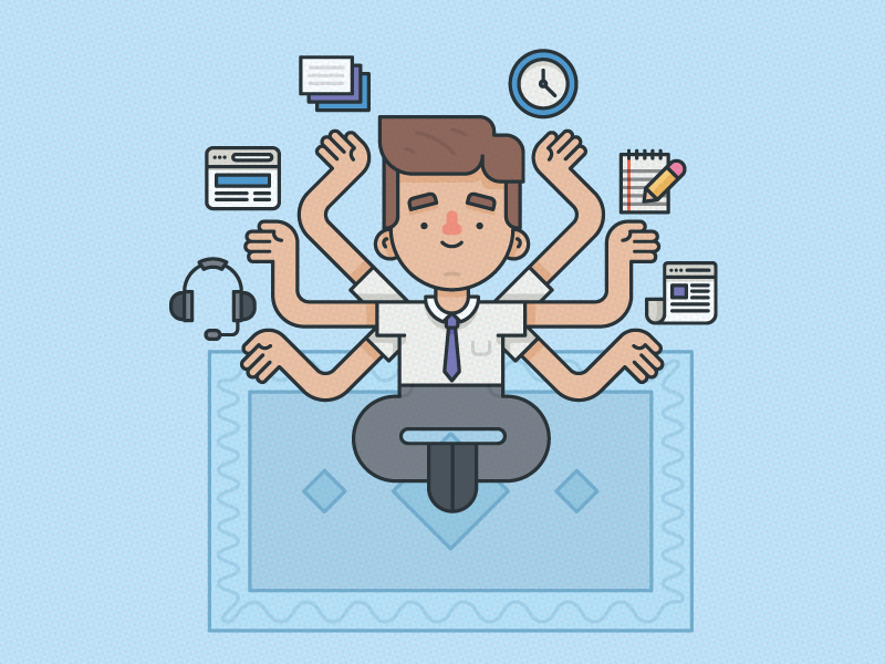 Getting Stuff Done print editorial guru character done things getting icon articulate illustration