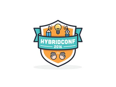 Hybrid Conf  creative icon sticker badge illustration conf hybrid